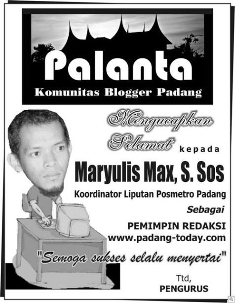 MAX PIMRED PADANG TODAY-PALANTA