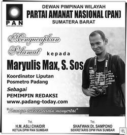 MAX PIMRED PADANG TODAY-PAN SUMBAR